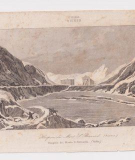 Rare Antique Engraving Print, Hospicio del Monte San Bernardo, 1790