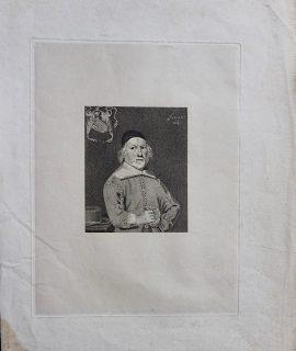 Rare Antique Engraving Print, Sir Edward Hales, 1822