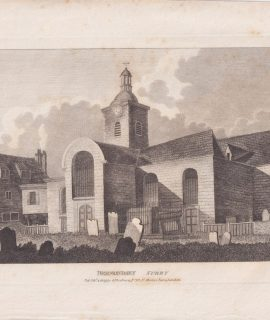 Antique Engraving Print, Bermondsey Surry, 1809