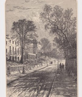 Antique Print, Grove Lane, Camberwell, 1890
