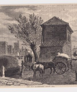 """Antique Print, """"The Old Horseferry about 1803"""", 1890"""