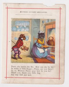 Vintage print from Mother Goose's Melodies, 1890 ca.