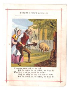 Vintage print from Mother Goose's Melodies, 1909 ca.