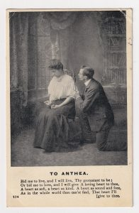 Vintage Romantic Postcard, To Anthea, 1909