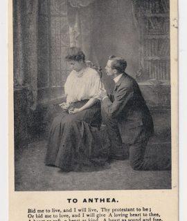 Vintage Romantic Postcard, To Anthea, 1909
