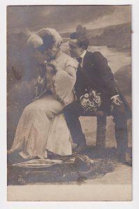Vintage Romantic Postcard, 1905