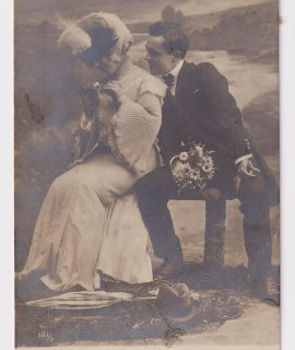 Vintage Romantic Postcard, 1905