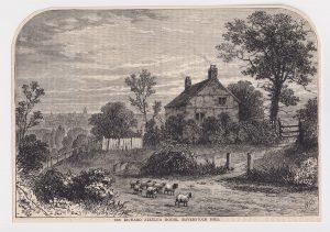 Antique Print, Sir Richard Steele's House, Haverstock Hill, 1880