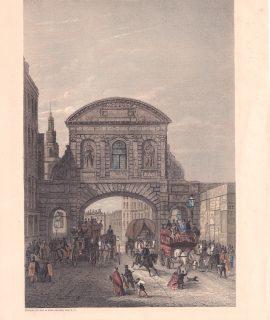 Vintage Print, Temple Bar, 1879