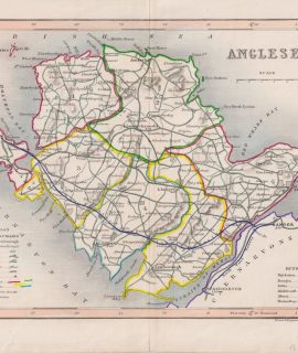 Antique Map, Anglesea, 1840