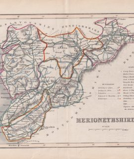 Antique Map, Merionethshire, 1840