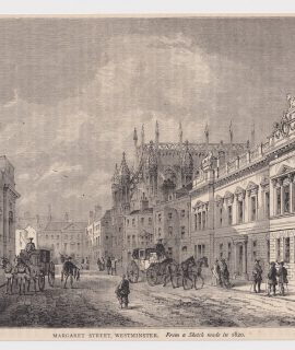Antique Print, Margaret Street, Westminster, 1880
