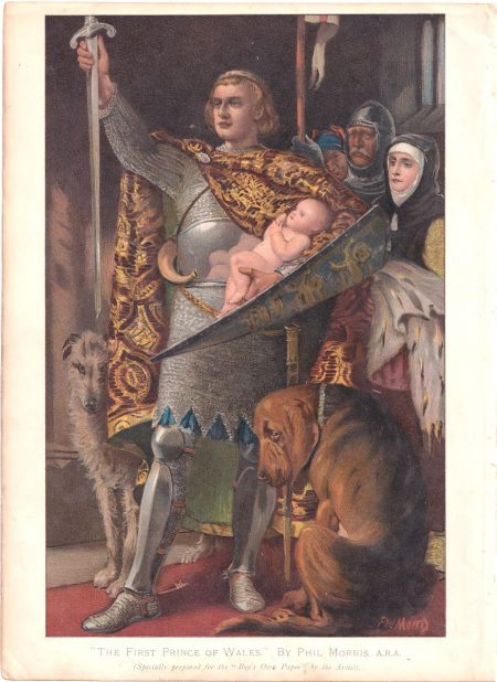 Vintage Print, The First Prince of Wales, By Phil Morris, 1890