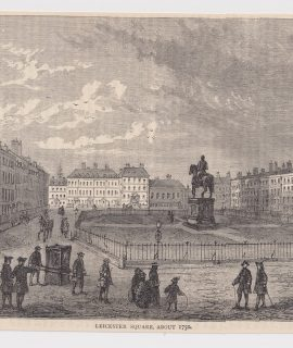 Antique Print, Leicester Square, 1880