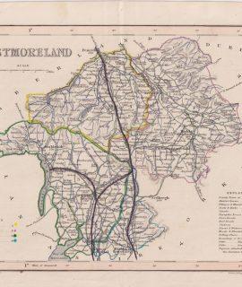 Antique Map, Westmoreland, 1840