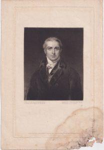 Antique Engraving Print, Portrait Mezzotinto, 1825