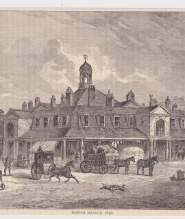 "Antique Print, ""Oxford Market 1870"", 1880"