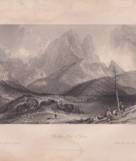 Antique Engraving Print, Pic du Midi d'Ossau, 1835