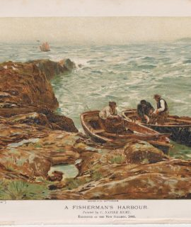 Vintage Print, A Fisherman Harbour, 1894