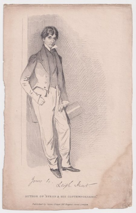 Antique Print, Author of Byron & His Contemporaries, 1850 ca.