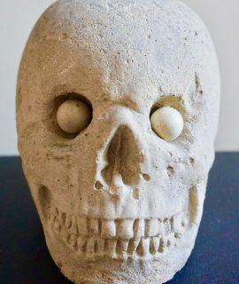 Vintage Large Stone Skull