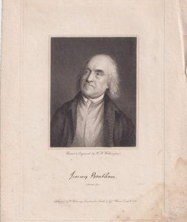 Antique Engraving Print, Jeremy Bentham, 1823