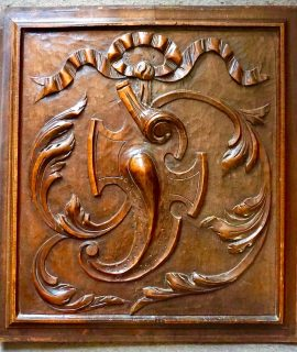 Antique Carved Wooden Panel