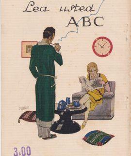 Rare Vintage Print, Lea Usted ABC, 1929