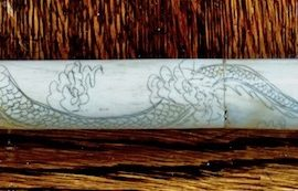 Antique Bone Chinese Scrimshaw Opium Pipe