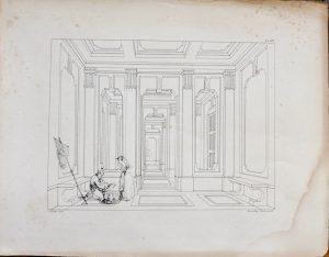 Antique Engraving Print, printed by C. Hullmandel, 1870 ca.