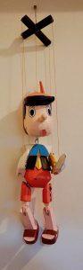 Vintage Pinocchio Marionette Doll, 1980s