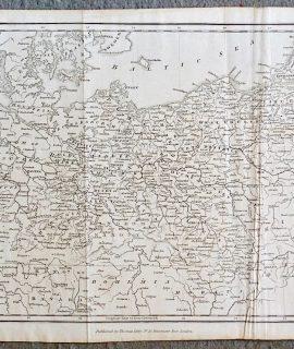 Antique Map, Prussia, 1825