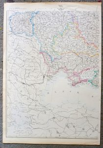 Antique Map, Russia South West, 1859