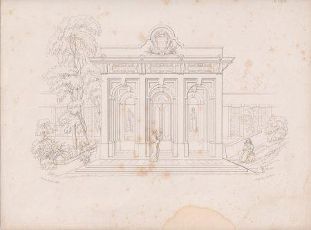 Antique Engraving Print, etched by J.H. Le Keux, 1870