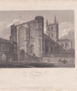 Antique Engraving Print, St. Saviours, 1805