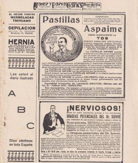 Vintage Print, Lea Usted ABC; Pastiglias Aspaime... 1931