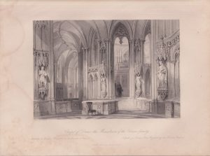 Antique Engraving Print, Chapel of Dreux..., 1840