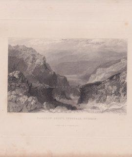 Antique Engraving Print, Caldron Snout, Teesdale, Durham, 1834