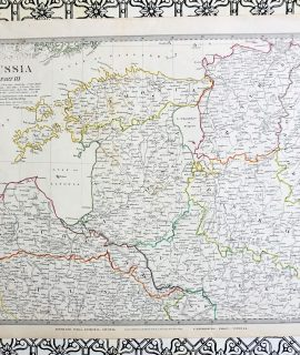 Antique Map, Russia, engraved by J. & C. Walker, 1834