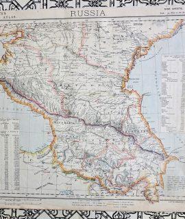 Antique Map, Russia, Letts's Popular Atlas, 1881