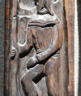 Antique Handmade Wooden Panel
