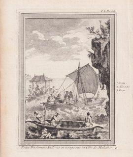 Antique Engraving Print, Petit Bastiments Indiens..., 1750