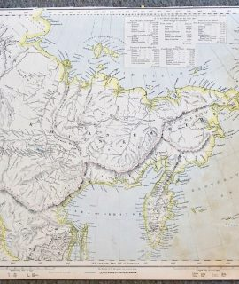 Antique Map, Export Trade of the Russian Empire, 1880