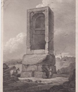 Rare Antique Engraving Print, Shrine at Timai, 1811