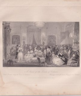 Antique Engraving Print, A Soirée at the Duke of Orleans, 1840