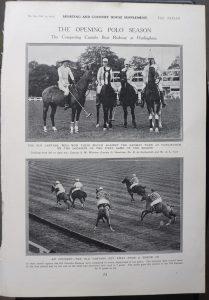 Vintage Print, The Opening Polo Season, 1913