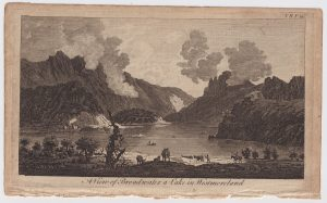 Antique Engraving Print, A View of Broadwater a Lake in Westmoreland, 1770