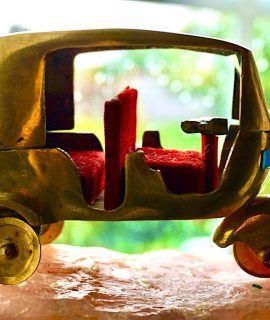 Vintage Handmade Car Brass, decorative miniature
