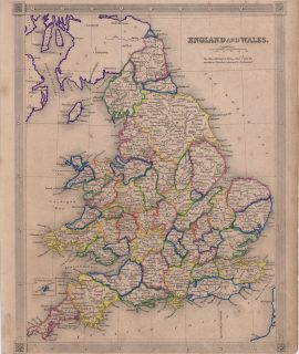 Antique Map, England and Wales, 1807