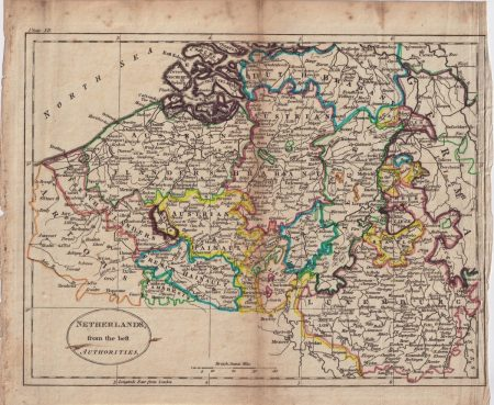 Antique Map, Netherland, 1807